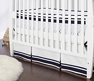 Just Born Crib Skirt, Navy