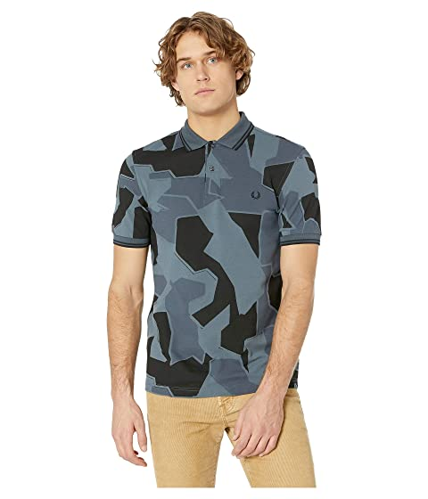 FRED PERRY Modern Camouflage-Print Pique Slim Fit Polo Shirt in Airforce Camo