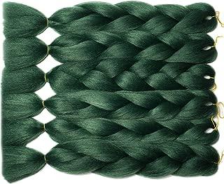 forest green braiding hair