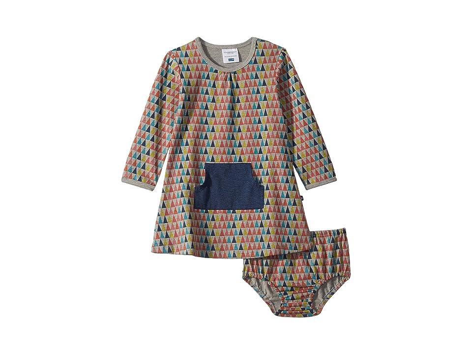 Toobydoo Large Pocket Dress (Infant/Toddler/Little Kids) (Multicolor Pyramid) Girl