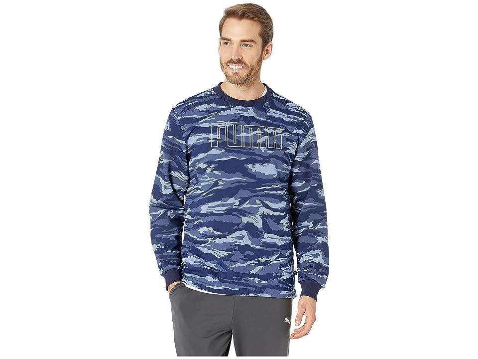 PUMA Camo Foil Fleece Crew (Sodalite Blue) Men