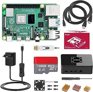 Bqeel Raspberry Pi 4 Model B 【4GB RAM+128GB SD Card 】con 4K,BT 5.0,WiFi 2.4G/5G/1000M Ethernet,2*USB 3.0/USB 2.0,USB-C Ada...