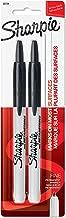 Sharpie Retractable Permanent Markers, Fine Point, Black, 2 Count - 32724PP