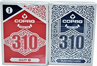 Copag Magic 310 Playing Cards Gaff+Blue Deck Poker Size True Linen B9