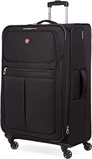 4010 Softside Luggage with Spinner Wheels, Black,...