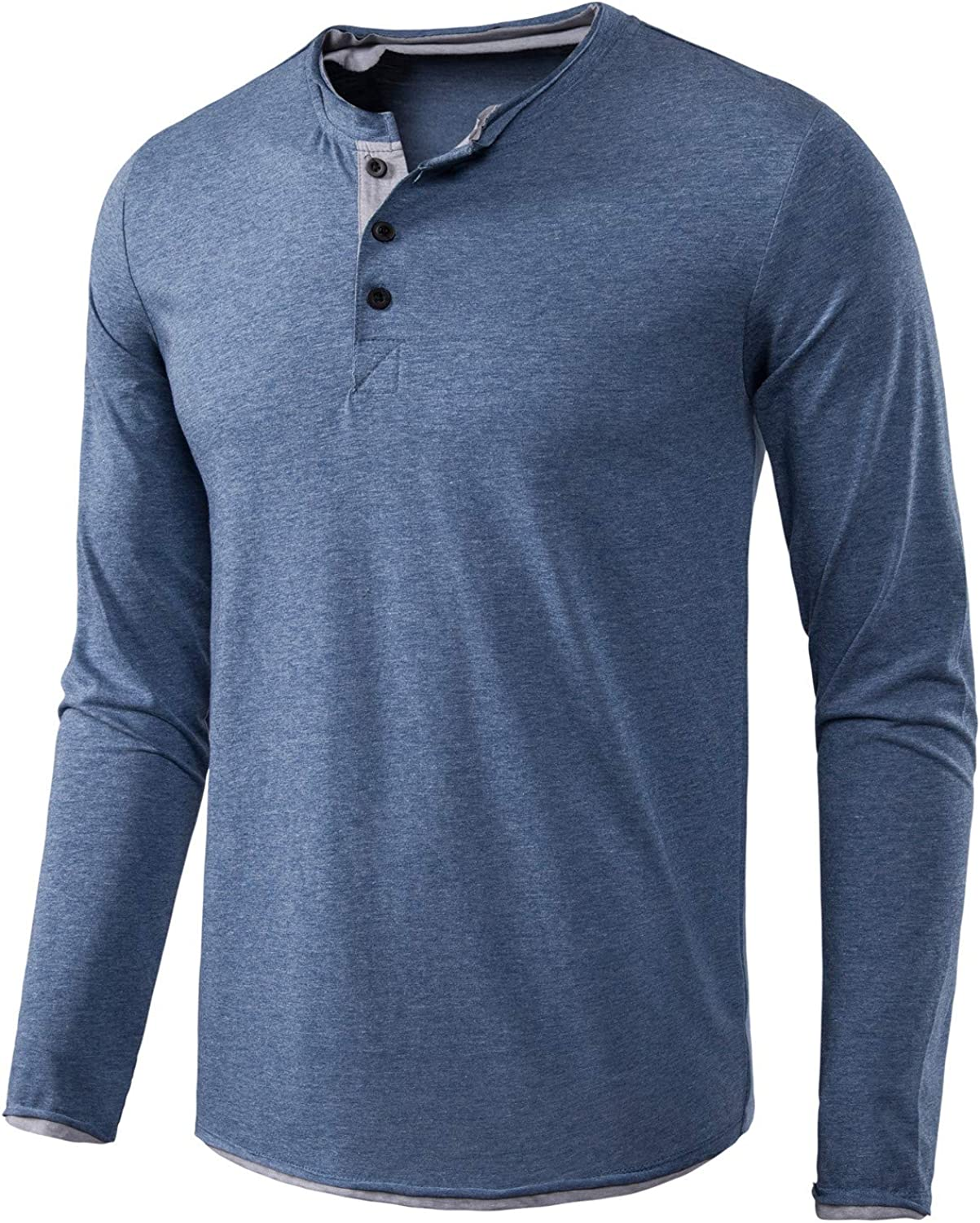 BEILU Men's Fashion Casual Long Fit Slim Sleeve T-Shirts Over item handling Ranking TOP20 Henley