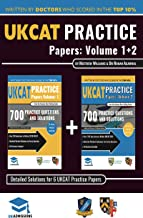 UKCAT Practice Papers Volumes One & Two: 6 Full Mock Papers, 1400 Questions in the style of the UKCAT, Detailed Worked Solutions for Every Question, UK Clinical Aptitude Test, UniAdmissions