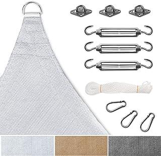 casa pura - Toldo de Sombra con Kit de fijación Incluido, toldo Cuadrado Resistente a los Rayos UV, Tela tensa en 9 tamaños