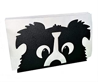Napkin Holder,Atych PU Leather Square Cocktail Paper Napkin Holders for Dining Table Napkin Holders for Kitchen Black