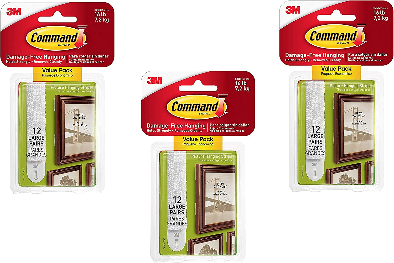 Command Large Picture-Hanging White 36-Sets Limited Special Price Strips Selling rankings