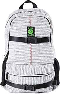 Skatepack Backpack - Laptop Sleeve, Smell Proof Pouch & Secret Pocket (Silver)