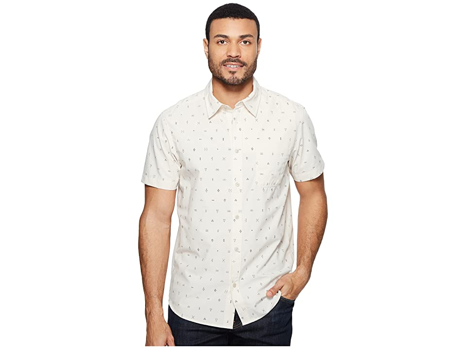 The North Face Short Sleeve Pursuit Shirt (Vintage White Uncharted Print (Prior Season)) Men
