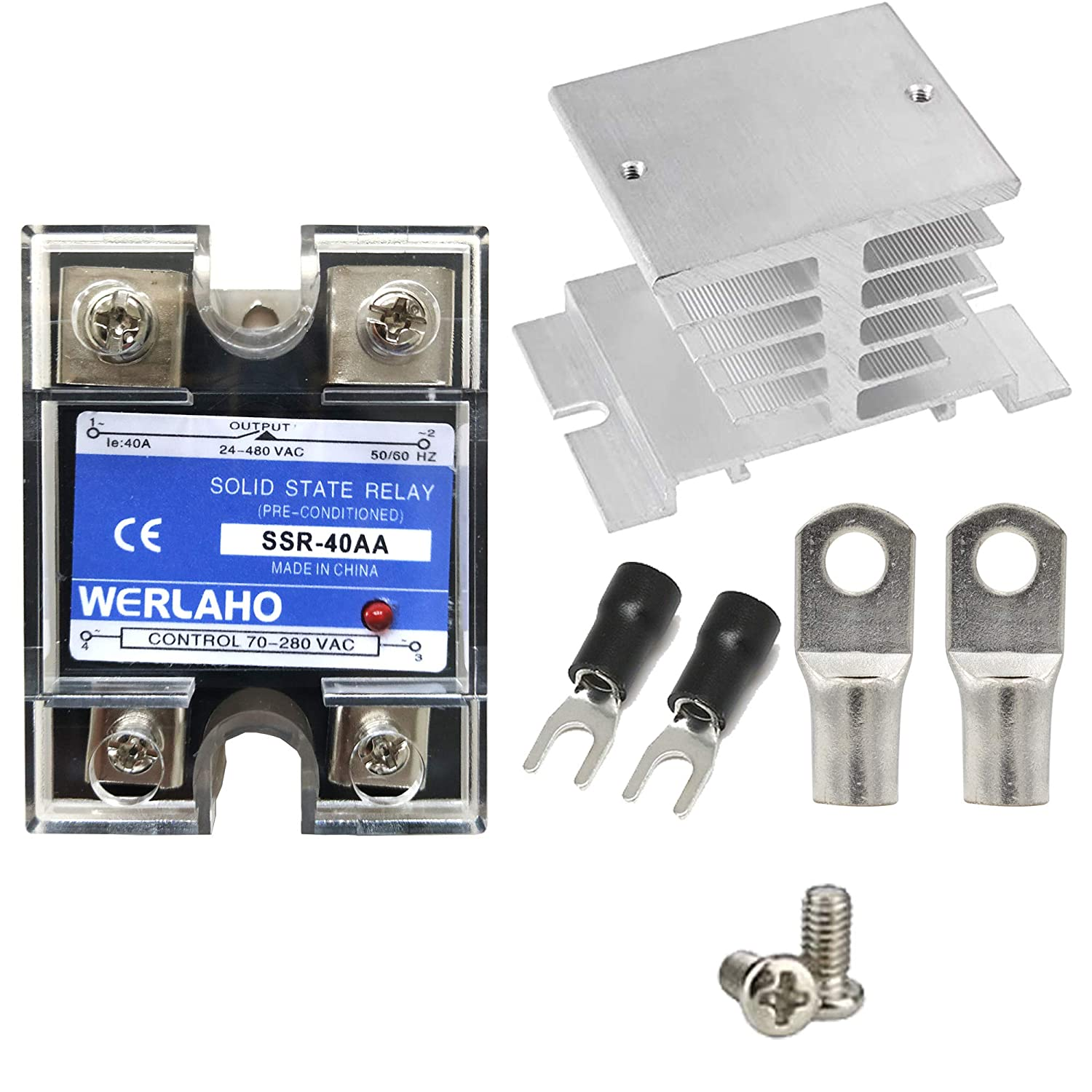WERLAHO AC Solid State Relay 110 Popular brand SSR 40A Volt Some reservation wit to
