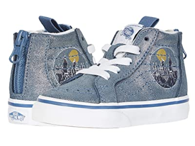 Vans Kids Vans x Harry Potter Sneaker Collection (Infant/Toddler) ((Harry Potter) Sk8-Hi Zip Hogwarts/Metallic) Kids Shoes
