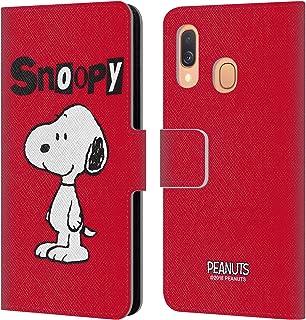 Officiel Peanuts Bleu Modèle Snoopy Deco Rêves Coque en Gel molle pour Samsung Galaxy A50