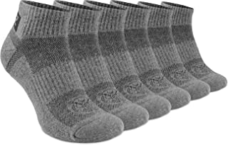 281Z Running Cushion Ankle Low Cut Socks - Athletic Hiking Sport Workout (Dark Grey)