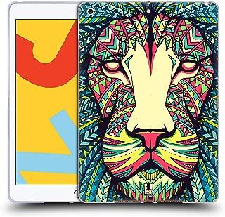 Head Case Designs Lion Aztec Animal Faces Soft Gel Case Compatible for iPad 10.2 (2019)