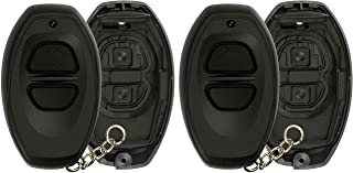 KeylessOption Keyless Entry Remote Control Black Car Key Fob Shell Case Cover Button Pad for Toyota Dealer Installed Alarm System BAB237131-022 (Pack of 2)