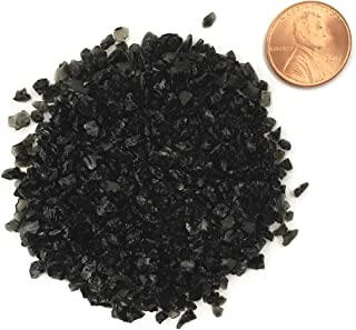 Natural Crushed Black Obsidian Stone Inlay, Coarse, 1/2 ounce