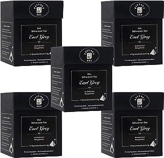 Bio Earl Grey 5 x 45g 127,78 Euro / kg Paulsen Tee Schwarzer Tee im Pyramidenbeutel - Bio, rückstandskontrolliert & zertifiziert