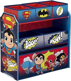Delta Children 6-Bin Toy Storage Organizer, DC Super Friends | Batman | Robin | Superman | Wonder Woman | The Flash