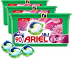 Ariel All-in-1 Pods Washing Liquid Laundry Detergent Tablets/Capsules, 90 Washes (30 x 3) with Touch of Lenor Freshness