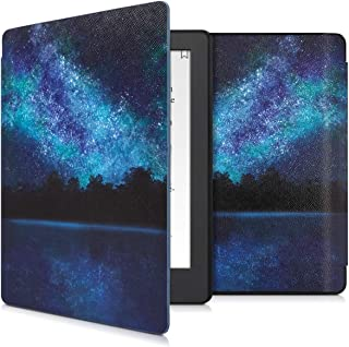 kwmobile Case for Kobo Aura H2O Edition 2 - Book Style PU Leather Protective e-Reader Cover Folio Case - Blue/Black