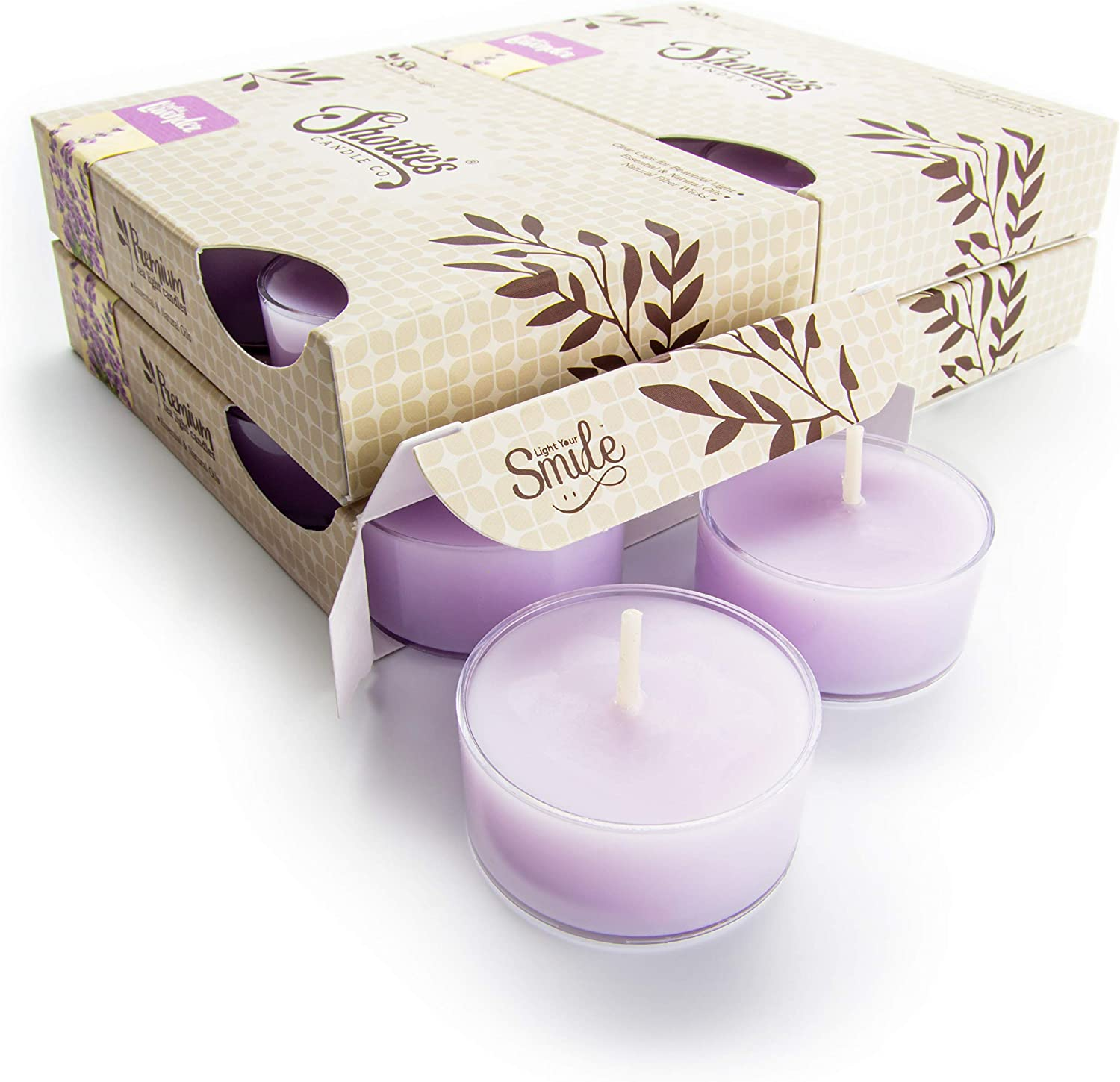 Super sale period limited Pure English Lavender Tealight Candles El Paso Mall 24 Pack Purple Bulk High