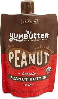 Organic Peanut Butter by Yumbutter, USDA Organic, Gluten Free, Vegan, Non GMO, 6.2oz Pouch