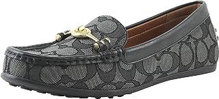 eec151656a4 Coach Women s Black Smoke Signature Turn-Lock Greenwich Loafers Shoes 9 B  US Women