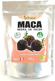 Maca Negra en Polvo. 250 g. Cruda, Sin Gluten, Bio y Vegana. Energía, Fertilidad, Equilibrio Hormonal y Salud Sexual para Mujeres y Hombres.