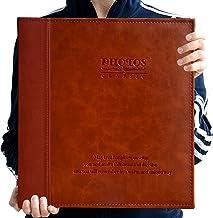 صفحه آلبوم عکس خود مغناطیسی ZOVIEW ، آلبوم خانوادگی ، جلد چرمی ، آلبوم های DIY DIY ساخته شده دارای 3X5 ، 4X6 ، 5X7 ، 6X8،8X10 عکس (قرمز قهوه ای)