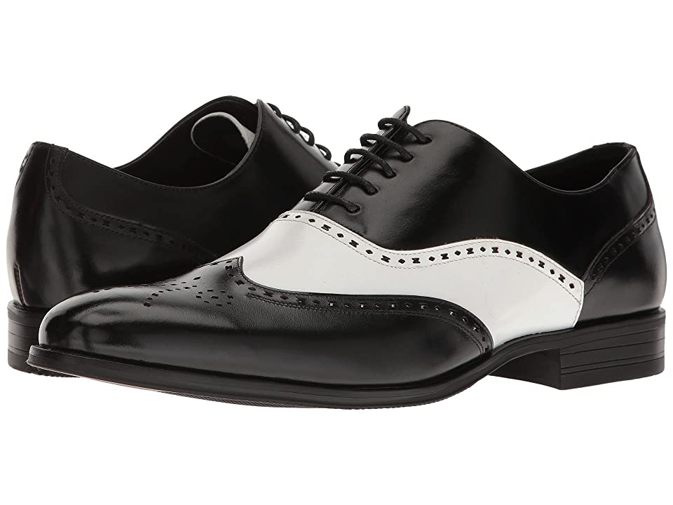 Stacy Adams Stockwell Wingtip Oxford (Black/White) Men