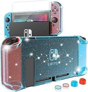 HEYSTOP Carcasa Nintendo Switch, Funda Nintendo Switch con Protector de Pantalla para Nintendo Switch Console y Joy Cons c...