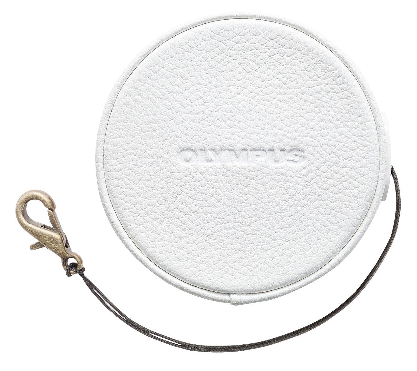 省びん竜巻OLYMPUS 14-42mm EZ レンズ用 本革レンズジャケット ホワイト LC-60.5GL WHT