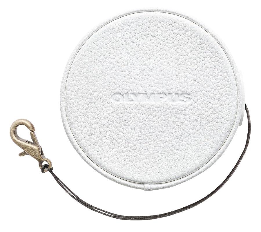 ベギンボウリング暴行OLYMPUS 14-42mm EZ レンズ用 本革レンズジャケット ホワイト LC-60.5GL WHT