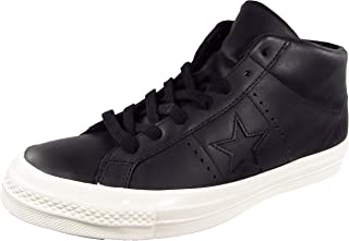 One Star Mid Top Leather Sneaker Black