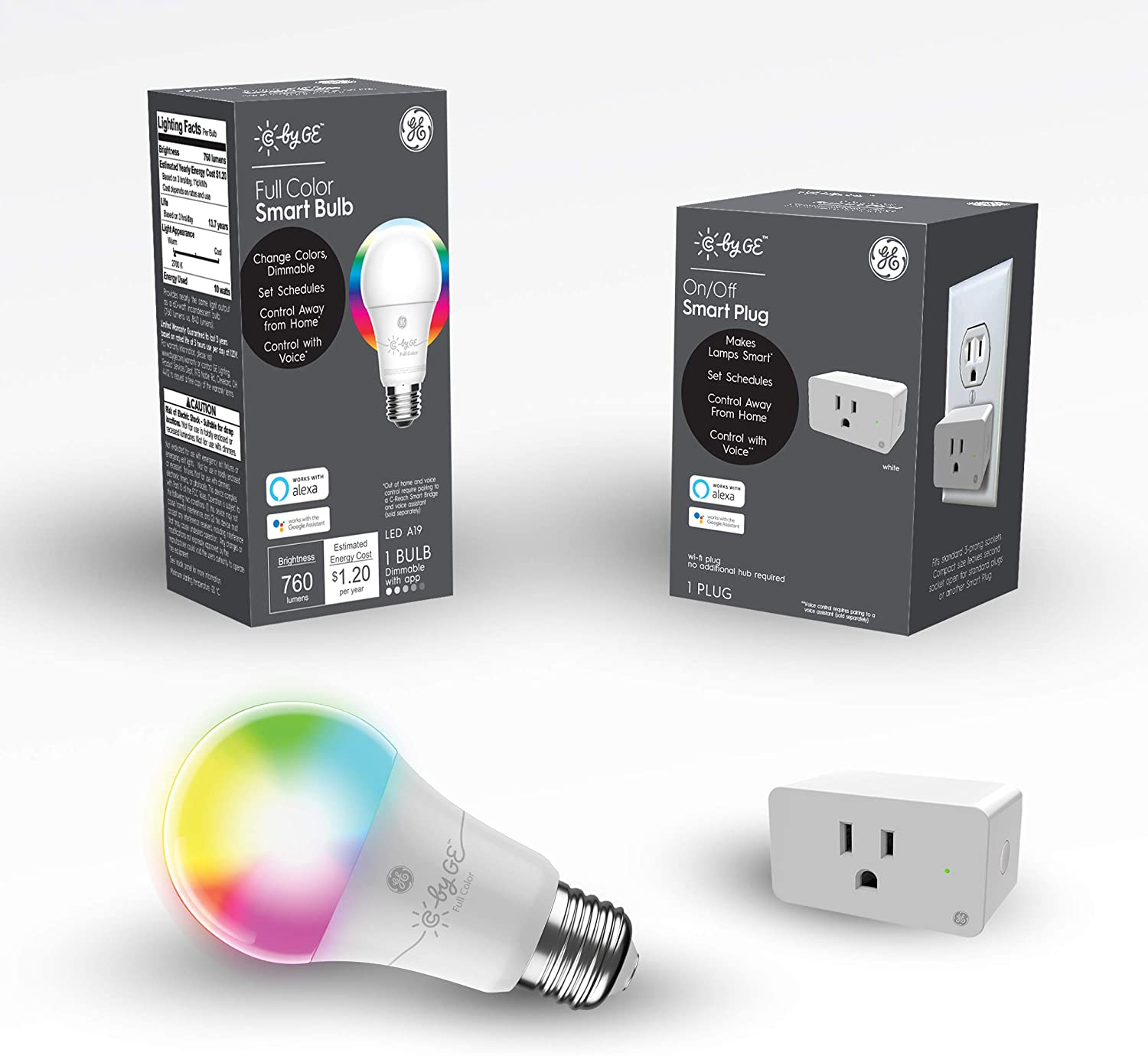 C by Now on High quality new sale GE Smart Bundle Pack and Bulb with 1 LE Plug