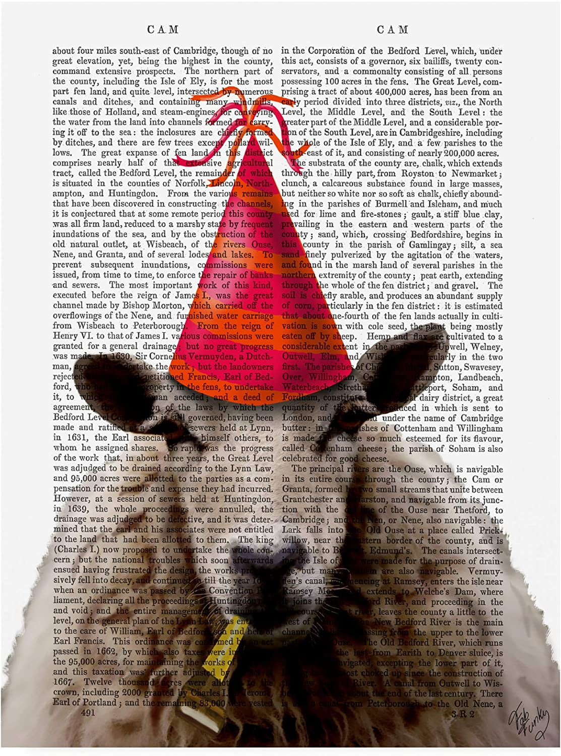 Trademark Fine Art Party Sheep by Fab Funky, 14x19