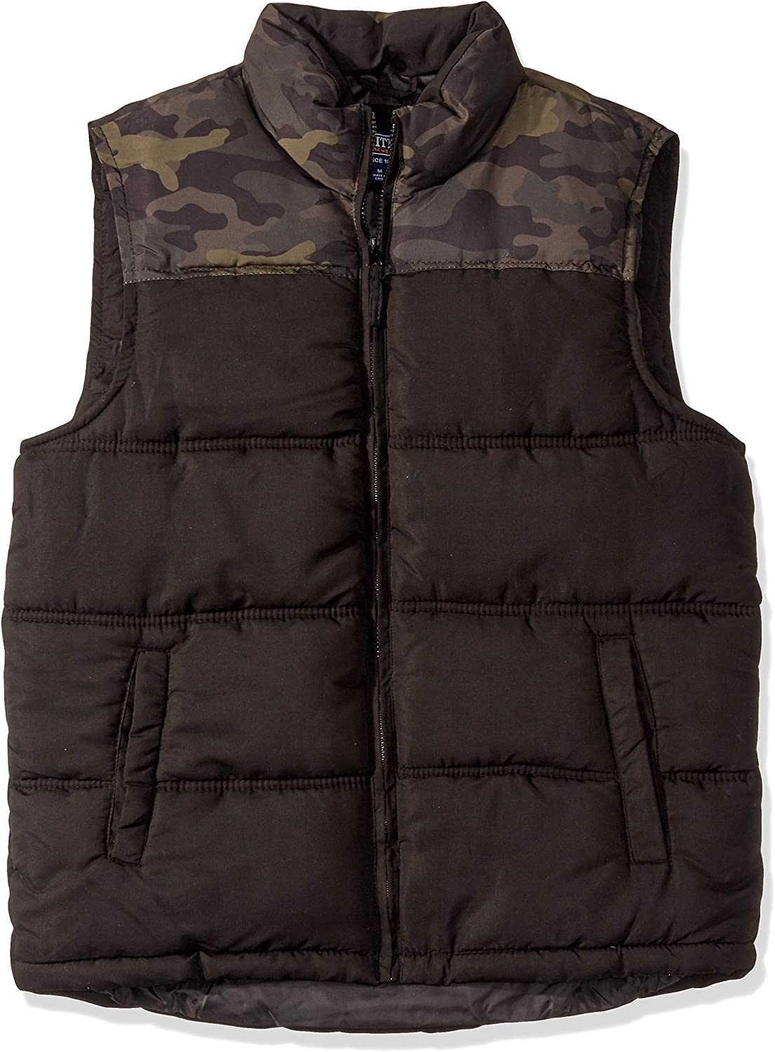Smiths Workwear Mens Camo Double Insulated Puffer Vest Work Utility Outerwear