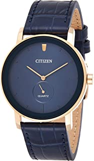 Citizen Men's Quartz Be9183 03L Leather Japanese Dress Watch
