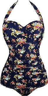 25052e0763117 Angerella Vintage Halter Swimsuit Monokini One Piece Swimwear Bathing Suits