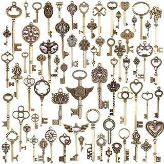 3eac11716504 Diossad 69 unidades llaves vintage llaves esqueleto Bronce DIY accesorios  dijes bisuteria Hecha a Mano