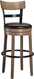 Ball & Cast Swivel Bar Stool - 30 Inch Seat Height, Light Brown