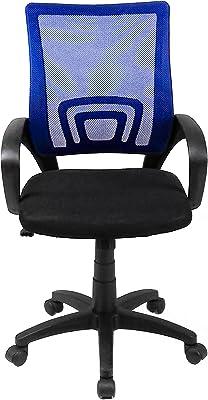 Tumueblekit Silla Oficina, Poliéster, Azul, 98.5x55.5x53 cm