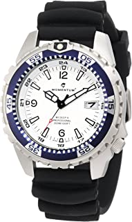 Momentum Men's 1M-DV06W1B M1 Deep 6 Blue Bezel Polyurethane Dive Watch