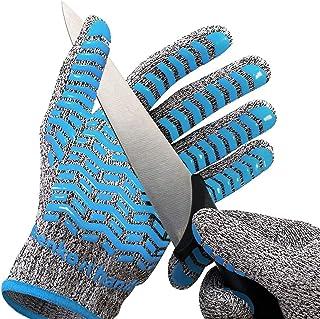 軍手 防刃手袋 滑り止め 付 破れない 防災グッズ 作業用 耐切創 防刃 軍手 手袋 切れない手袋 (L - XL 防刃 5級)