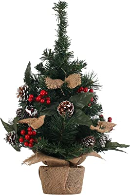 Artificial Mini Christmas Tree Pine Cone String Pine Needle Decoration Tree Cloth Bag Base Xmas tree-2ft