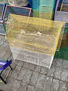 Yellow Parrot Cage for Birds(Set of 8)