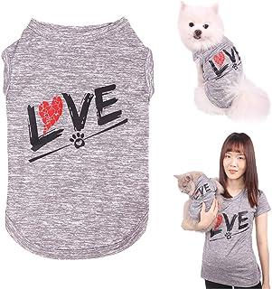 CAISANG Dog Shirts Love Puppy T-Shirt Mommy Sweatshirt/Pets Clothes Sleeveless Vest Doggy Clothing Crewneck Womens Shirts,...